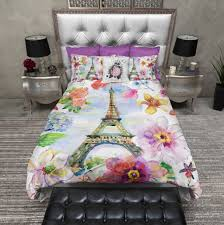 Eiffel Tower Comforter Paris In Spring Eiffel Tower Duvet Bedding Sets Ink And Rags