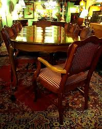 anthes baetz walnut vintage dining room table and 8 chairs sold