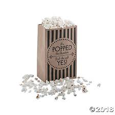 wedding treat bags popcorn kraft paper treat bags