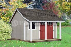 Free House Plans With Material List 16x20 Ft Guest House Storage Shed With Porch Plans P81620 Free