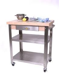 amazon com cucina elegante kitchen cart maple stainless steel