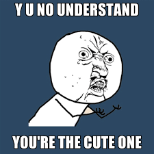 Cute No Meme - y u no understand you re the cute one create meme