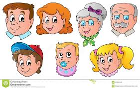 family faces theme image 1 stock photo image 27282430