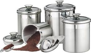 5 best stainless steel kitchen canister set u2013 convenient and handy