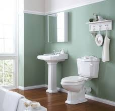 warm slekk wooden flooring harmonizing with calm olive bathroom