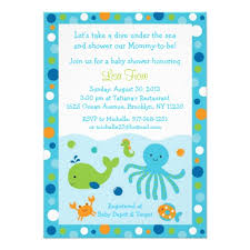 the sea baby shower invitations baby shower invitations for 1 blue the sea baby
