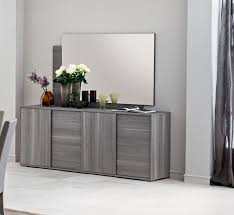 Sideboard Modern Futura Grey 4 Door Sideboard Living Room Furniture Modern