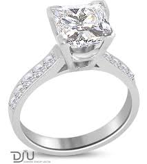 2 carat gold engagement ring 2 carat e vs2 princess solitaire engagement ring set in 14