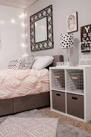 colorful rectangle wall panel completed white teenage bedroom