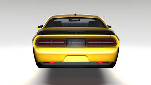 Dodge Challenger Yellow - dodge challenger 392 shaker lc 2016 flying by creator 3d 3docean