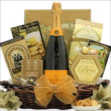 wine and cheese gift basket veuve clicquot ponsardin brut chagne chagne gift basket