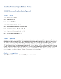 common core cc standards curriculum map algebra 2