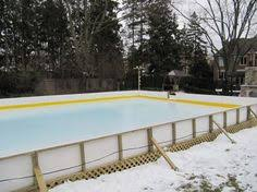 Ice Skating Rink Backyard by Backyard Ice Rink With Entry Gate Center Ice Rinks Inc Project