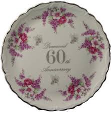 60th anniversary plates 60th diamond wedding anniversary plate in bone china co uk