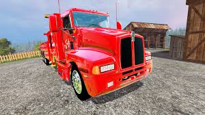 truck wreckers kenworth kenworth t600b wrecker for farming simulator 2015