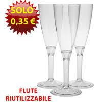costo bicchieri di plastica flute plastica economici per chagne spumante riutilizzabili e