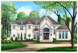 french chateau home plans