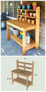 potting table with sink potting table with sink bench diy outdoor plans folding