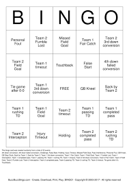 football bingo cards to download print and customize