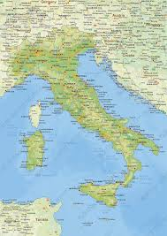Maps Italy Digital Physical Map Of Italy 1443 The World Of Maps Com
