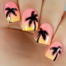 strawberry fields forever nail art tutorial check out this video for these summer sunset palms nails