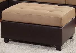 Brown Microfiber Storage Ottoman Sofa Large Storage Ottoman Microfiber Storage Ottoman White