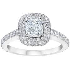 diamond ring cushion cut and round brilliant diamond ring 2 25 ctw