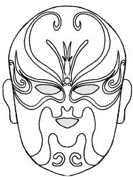 coloriage masque de l u0027opéra chinois dessin 1 tête à modeler
