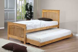Bunk Bed With Slide Out Bed Roll Out Beds White Bed