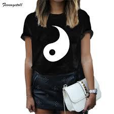 aliexpress yang fevengetoll new 2017 lovers yin yang couple tee shirt blusas