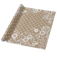 chic wrapping paper lace burlap 3 shabby chic wrapping paper zazzle