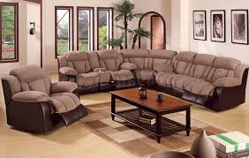 Reclining Sectional Sofas by Microfiber Sectional Sofa With Recliners Saddle Microfiber