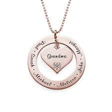 grandmother necklace with gold plating mynamenecklace