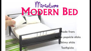 modern contemporary furniture diy modern contemporary bed dollhouse miniature furniture tutorial