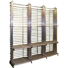 Contemporary Bakers Rack French Mid Century Industrial Aluminum Baker U0027s Rack Eron Johnson