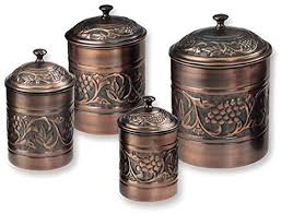antique kitchen canister sets antique embossed heritage canister set 4