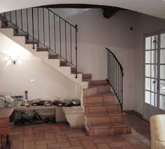 modern staircase design come with beige wooden stair railing and