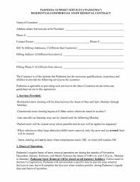 removal contract cvsampleformcom best snow plow contract template