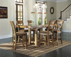 ashley dining room furniture set d653 krinden 7pc gathering table set