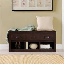 Front Door Storage by Altra Westbrook Storage Bench Dark Walnut Walmart Com