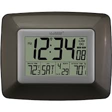 Digital Atomic Desk Clock Atomic Digital Wall Clock Free Shipping Today Overstock Com