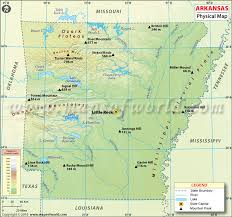 map of arkansas physical map of arkansas usa maps arkansas usa