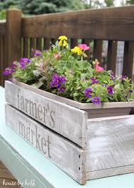 How To Make Planters by Diy Pallet Wood Planter Box Summer Celebration 2015 House By Hoff