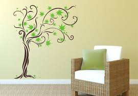 twine tree 2 color wall decal floral vinyl decor
