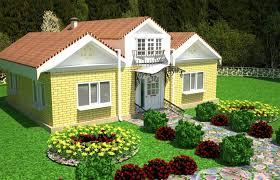 Home Design 3d Export by Village House With Landscape Design 3d Model In Buildings3dexport