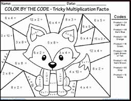 Color By Number Math Worksheets Grade Color By Number Sheets Coloring Pages Grade