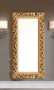 specchi con cornice specchi moderno con cornice intarsiata e finitura dorata