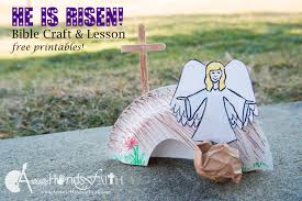 he is risen easter craft and bible lesson