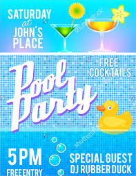 18 pool party flyer templates psd free eps format download