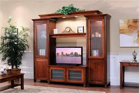 Entertainment Armoire With Pocket Doors Amish Solid Wood Entertainment Centers And Corner Tv Stands From